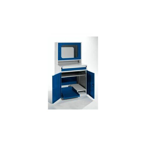 QUIPO Computerschrank   HxBxT 1600 x 800 x 695 mm   Mit schmalem Auszug und