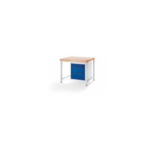 RAU Werkbank, stabil - 3 Schubladen Größe L je 1 x 120/180/240 mm hoch