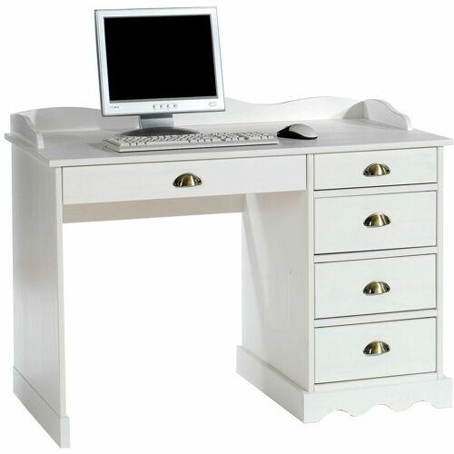 IDIMEX Schreibtisch COLETTE mit Aufsatz in wei