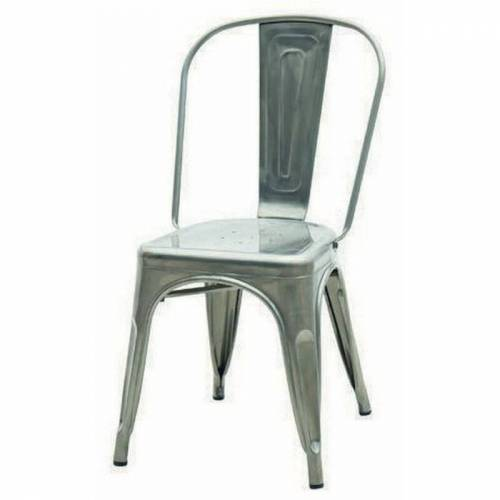 FASHION COMMERCE Set aus 2 Stühlen im modernen Stil Tolix Stühle in Grau aus
