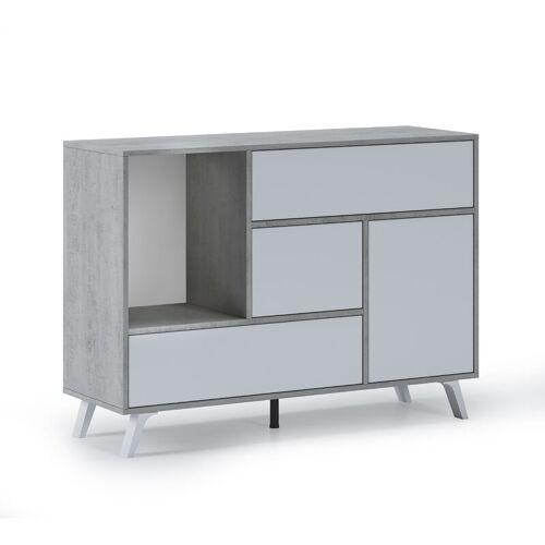 Skraut Home - Sideboard für Wohn-/Esszimmer, Buffetschrank mit WIND 1