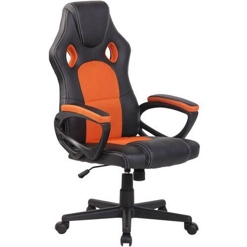 CLP Sportsitz Racing Bürostuhl Fire-schwarz_orange
