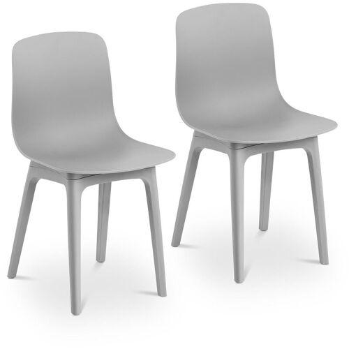 FROMM & STARCK Fromm&starck - Stuhl 2er Set Kunststoffstuhl grau Küchenstuhl bis 150