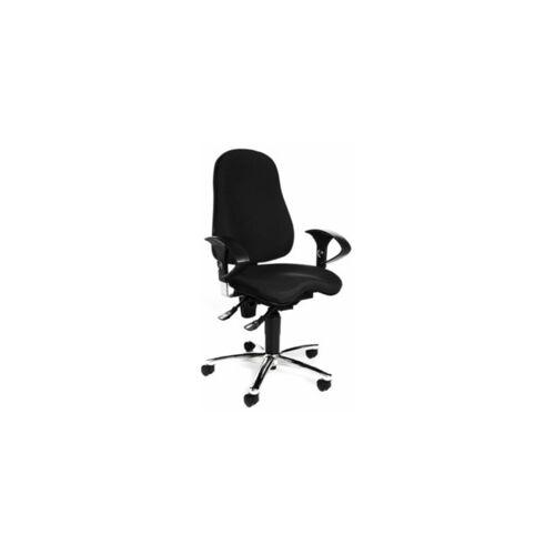 TOPSTAR Bürodrehstuhl SITNESS 10   Mit orthopädischer Sitzfläche   Schwarz