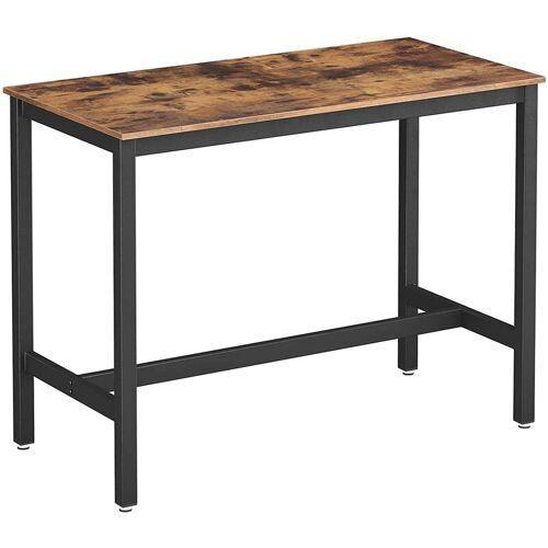 SONGMICS VASAGLE Bartisch Metall, Stabiler Stehtisch Tisch 120 x 60 x 90 cm für