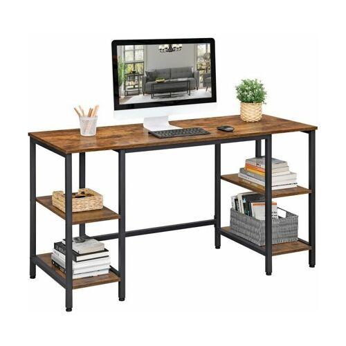 SONGMICS VASAGLE Schreibtisch, Computertisch, Bürotisch mit 4 Ablagen, große