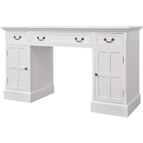 Vidaxl - Schreibtisch Sekretär Weiß 140 x 48 x 80 cm