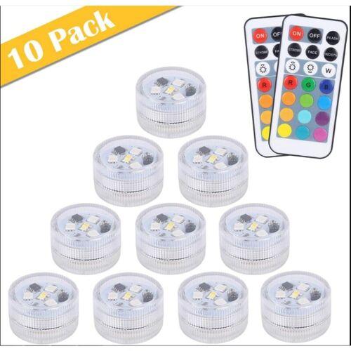 THSINDE 10pcs Mini Unterwasser LED Licht, 13 Farben RGB Mehrfarbige Mini LED