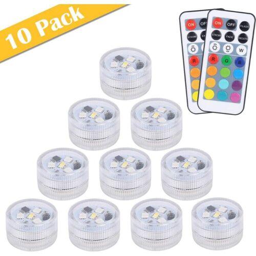 THSINDE 10pcs Mini Unterwasser LED Licht,13 Farben RGB Mehrfarbige Mini LED