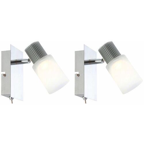 Etc-shop - 2er Set LED Wandstrahler 10 Watt Wandleuchte Spot Strahler