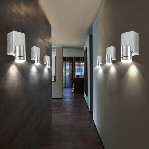 Etc-shop - 6er Set LED Wand Spot Leuchten Wohn Ess Zimmer Beleuchtung