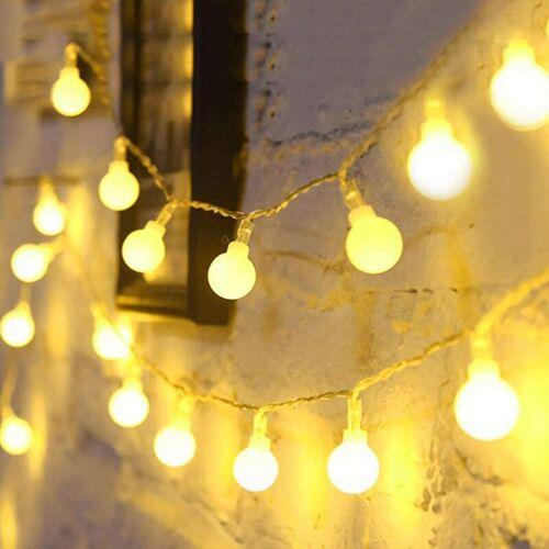 BEARSU 6M Lichterketten, Lichterketten, 40 kleine Bälle Wasserdicht IP65,
