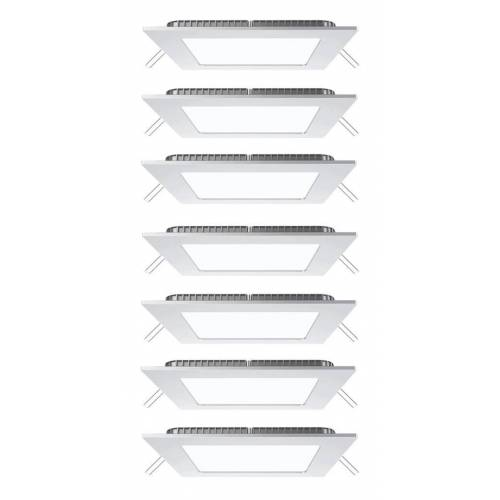 Etc-shop - 7er Set LED Decken Lampen Einbau Arbeitszimmer Raster Alu