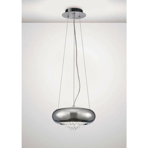 09-DIYAS Aufhängung Phyllis Small 2 Bulbs G9 Chrom / Kristall poliert