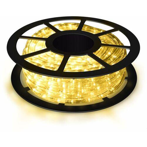 COSTWAY 10M LED Lichterschlauch Lichtschlauch Lichterkette fuer Aussen