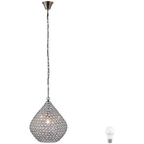 ETC-SHOP Hänge Decken Kristall Kugel Lampe Alt Messing Esszimmer Pendel Leuchte
