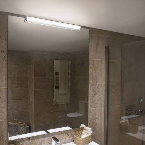 FARO LED Badezimmer Wandleuchte Edge aus Metal in Chrom IP44 600mm