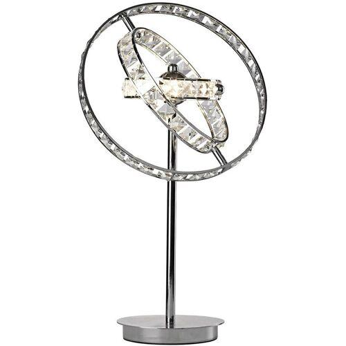 10-dar Lighting - Ewige Kristall und polierte Chrom 4-Licht Tischlampe