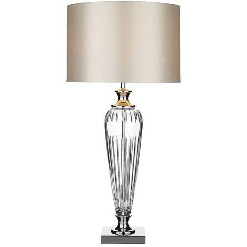 10-dar Lighting - Hinton Polierte Chrom & Kristall 1-Licht Tischlampe