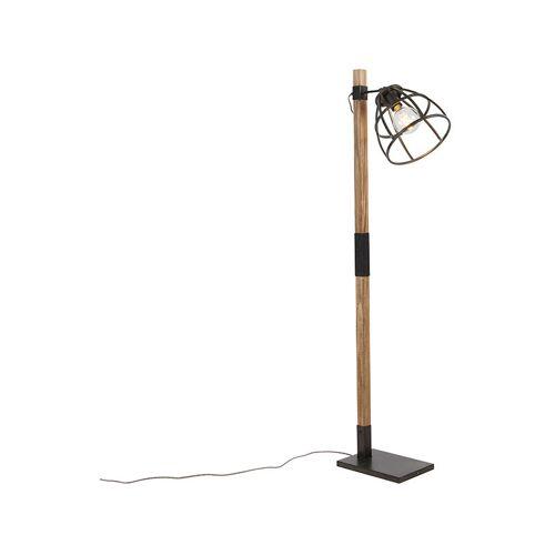 Qazqa - Industrielle Stehlampe schwarz - Arthur