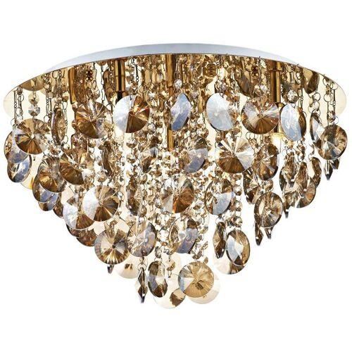 10-dar Lighting - Jester Deckenlampe Kristall und poliertes Gold 5