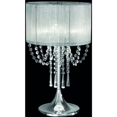 15-FRANKLITE Kaiserin 3-Licht Chrom Kristall Tischlampe