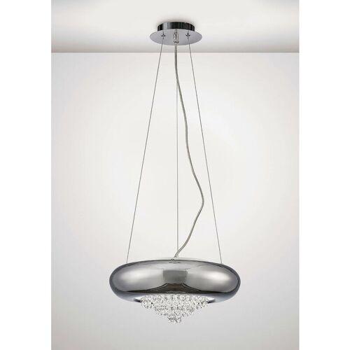 09-DIYAS LargeSuspension Phyllis 3 Bulbs G9 Chrom / Kristall poliert