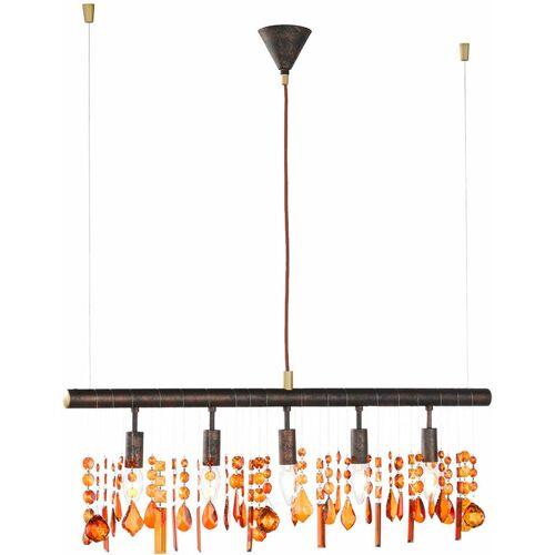 ETC-SHOP Hänge Lampe Kristall Behang Decken Leuchte Pendel Luster im Set