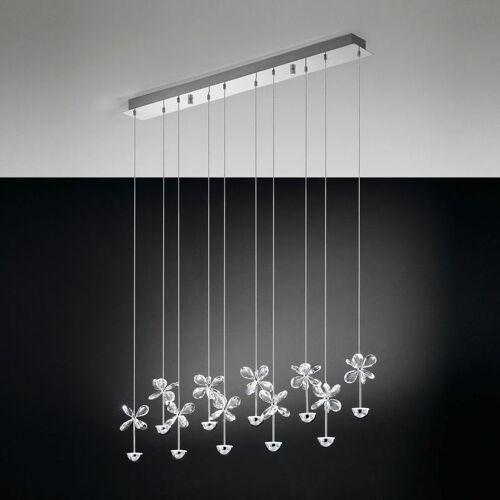 Eglo - Pianopoli Kristall LED Hängeleuchte chrom 10x 2, 5W