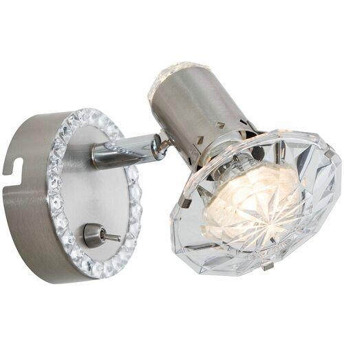 Globo - LED Wandstrahler LED Strahler Innen Wandlampe Kristall Spot
