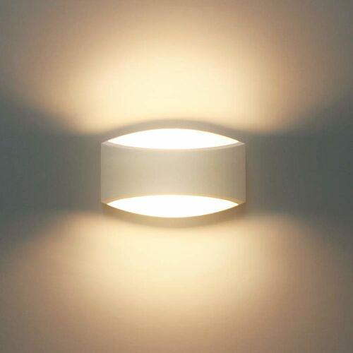 STOEX Moderne Gips Wandleuchte 5W LED Wandleuchte Warmweiß für Wohnzimmer