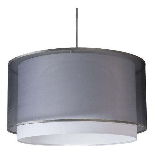 QAZQA Moderne Hängelampe mit Lampenschirm schwarz / weiß 47/25 - Duo