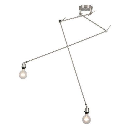 QAZQA Moderne Hängelampe Stahl ohne Lampenschirm - Blitz II