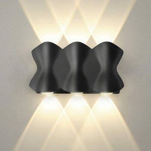 STOEX Moderne LED Wandleuchte Innenputz Wandlampe 7W Warmweiß für Wohnzimmer,