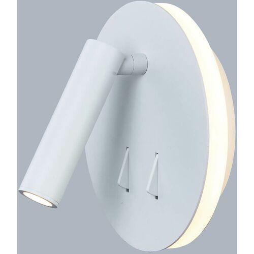 11-italux - Moderne Nachttischlampe Nemo weiß