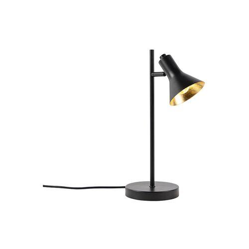 QAZQA Moderne Tischlampe schwarz mit Gold 1-Licht - Magno