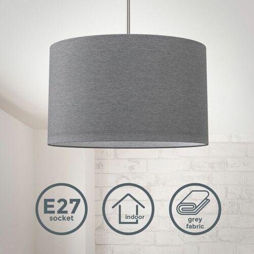 B.K.LICHT Pendelleuchte Stoff Textil Lampenschirm Deckenlampe Esstisch Wohnzimmer