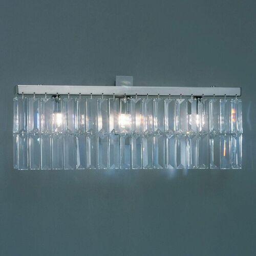 14-kolarz - PRISMA Kristall Design Wandleuchte Chrom 3 Lampen Höhe 22 cm