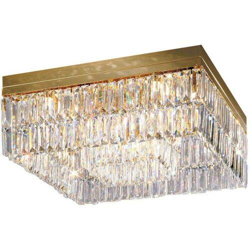 14-kolarz - Design Deckenleuchte in PRISMA 24K Gold Kristall 16 Lampen