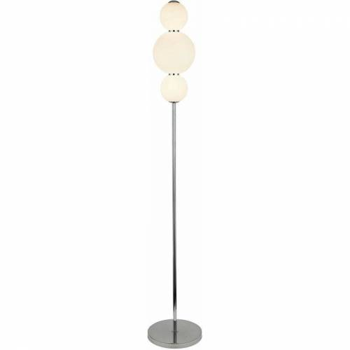 03-SEARCHLIGHT Schneeball Lampe 3 Leuchtmittel, Lampenschirm mit Chrom Opalglas