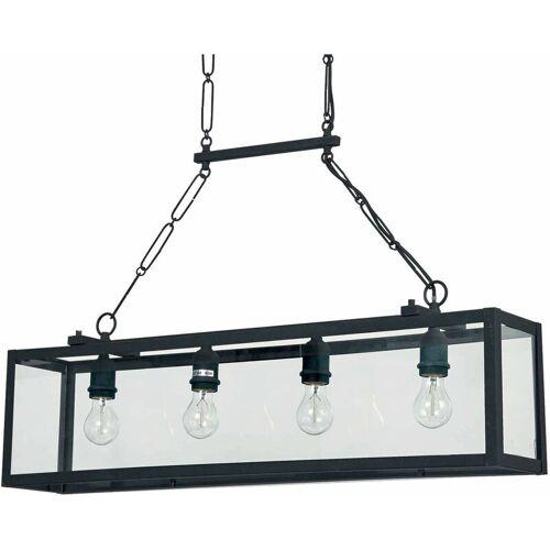 01-IDEAL LUX Schwarzer Anhänger IGOR 4 Lampen