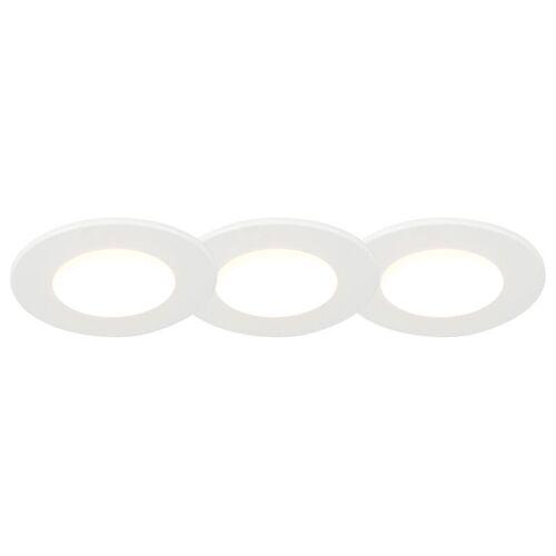 QAZQA Set aus 3 badezimmer Einbaustrahlern rund LED 5W wasserdicht - Blanca