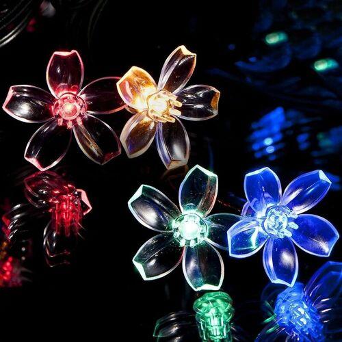 ABCRITAL Solar Lichterkette,Lichterkette Außen,Led Lichterkette,11Meter