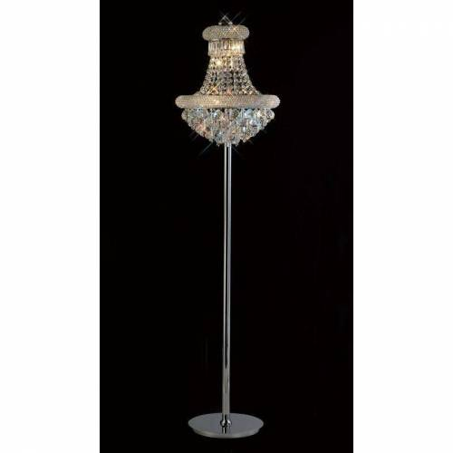 09-diyas - Stehlampe Alexetra 8 Lampen Chrom / Kristall poliert