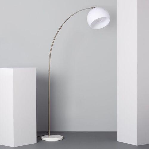 Ledkia - Stehlampe Gebogen Silber