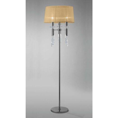 09-diyas - Stehlampe Tiffany 3 + 3 Lampen E27 + G9, Chrom poliert mit