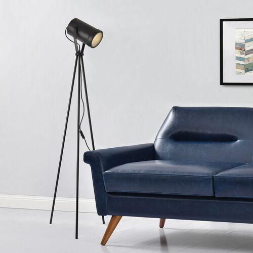 [LUX.PRO] Stehleuchte Simple 151 cm mit Stativ Schwarz