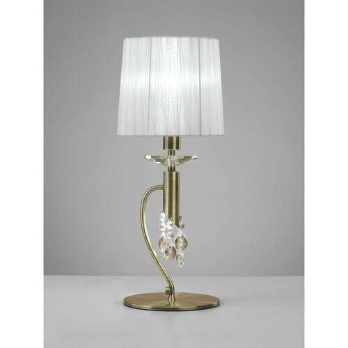 09-diyas - Tiffany Tischlampe 1 + 1 Lampe E14 + G9, antikes Messing mit