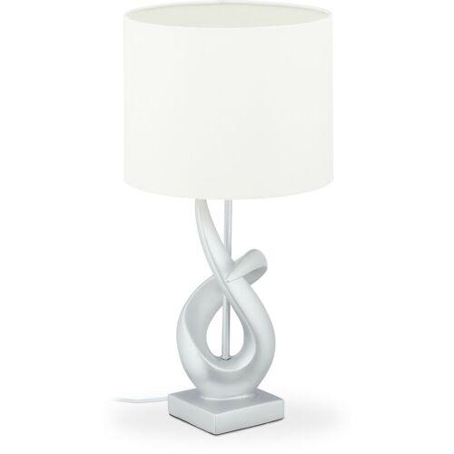 Relaxdays - Tischlampe modern, elegantes Design, Tischleuchte