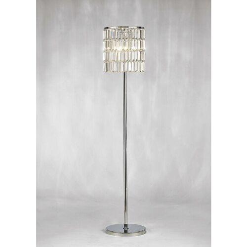 09-diyas - Torre Kristall Vorhang Stehlampe 5 Lichter Chrom poliert